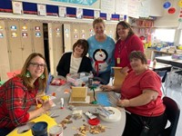 Staff Gingerbread House Project