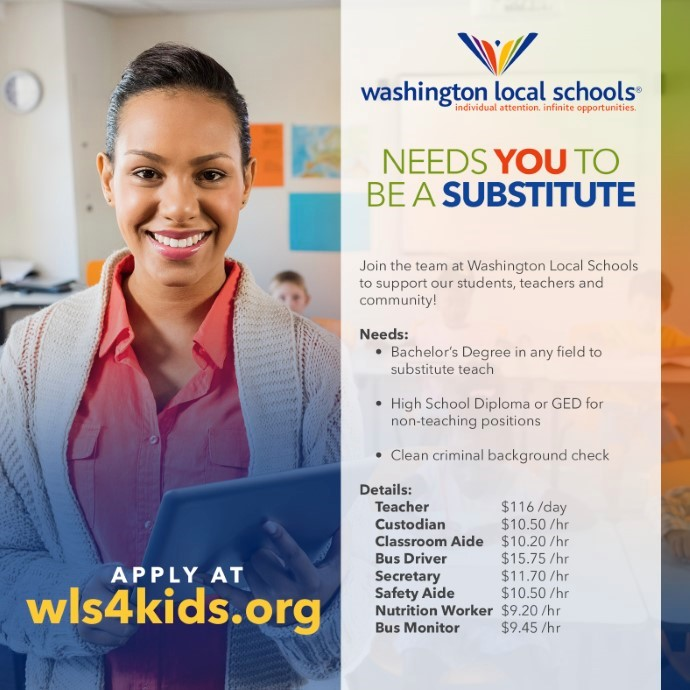 WLS Needs You to be a Substitute